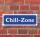 """Schild im Straßenschild-Design """"Chill-Zone"""" 30 x10 cm Alu-Verbund"""