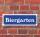 """Schild im Straßenschild-Design """"Biergarten"""" 30 x10 cm Alu-Verbund"""