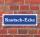 """Schild im Straßenschild-Design """"Knutsch-Ecke"""" 30 x10 cm Alu-Verbund"""