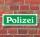 """Schild im Straßenschild-Design """"Polizei grün"""" 30 x10 cm Alu-Verbund"""