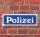 """Schild im Straßenschild-Design """"Polizei blau"""" 30 x10 cm Alu-Verbund"""