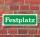 """Schild im Straßenschild-Design """"Festplatz"""" 30 x10 cm Alu-Verbund"""
