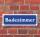 """Schild im Straßenschild-Design """"Badezimmer"""" 30 x10 cm Alu-Verbund"""