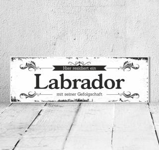 Schild Vintage Shabby Geschenk Holzschild Hundeschild Labrador Türschild