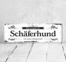 Schild Vintage Shabby Geschenk Holzschild Hundeschild...