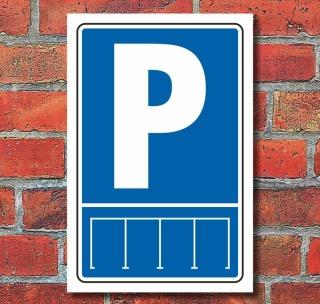 Schild Parkordnung Gerade Parkplatz Privatparkplatz Hochkant 3 mm Alu-Verbund