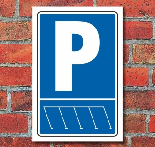 Privatparkplatz,Parkplatzschild,52 x11cm Alu-Verbund-Wunschtext,Parken,Schild