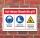 Schild Baustelle Kopfschutz Sicherheitsschuhe schwebende Last 3 mm Alu-Verbund