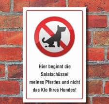 Schild Kein Hundeklo Hundekot Wiese Weide...