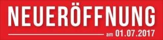 PVC Werbebanner Banner Plane Neueröffnung mit Ösen
