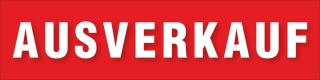 PVC Werbebanner Banner Plane Sale Ausverkauf Sonderangebote Rabatt mit Ösen