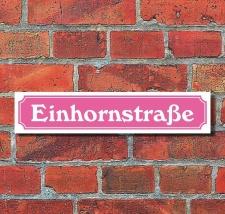 """Schild """"Einhornstraße"""" Pink Geschenk..."""