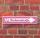 """Schild """"Einhornstraße"""" Pink Geschenk Geburtstag Pfeil rechts - 3 mm - 52 x 11 cm"""
