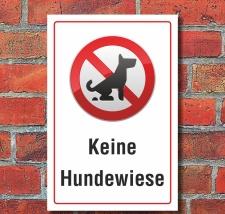 Schild Keine Hundewiese Hundeklo Hundekot Wiese...