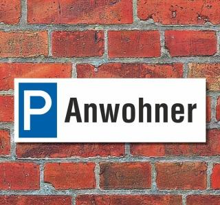 Schild Anwohner Besucher Gäste Privatparkplatz Parkschild Parkplatz 30x10 cm
