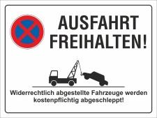 Schild Ausfahrt freihalten Parkverbot Halteverbot 200 x...