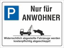 Schild Nur für Anwohner Parkverbot Halteverbot 200 x...