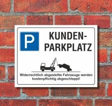 Schild Kundenparkplatz Parkverbot Halteverbot 200 x 150...