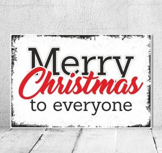 Vintage Shabby Holzschild Dekoschild Merry Christmas Weihnachten Fest Geschenk
