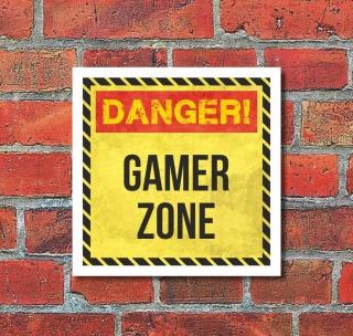 Schild Gamer Zone Zocker Spieler Geburtstag Geschenk Feier 200 x 200 mm
