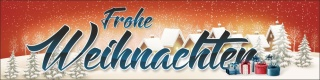 PVC Werbebanner Banner Plane Frohe Weihnachten Merry Christmas Fest mit Ösen
