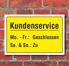 Schild Kundenservice Kundenberatung Service Geschenk...