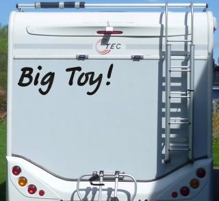 Aufkleber Big Toy Wohnmobil Wohnwagen Camper Camping Caravan Auto