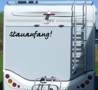 Aufkleber Stauanfang Wohnmobil Wohnwagen Camper Camping Caravan Auto