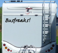 Aufkleber Busfreaks Wohnmobil Wohnwagen Camper Camping...