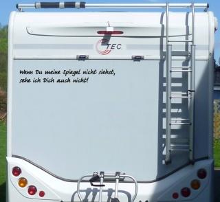 Aufkleber Spiegel nicht sehen Wohnmobil Wohnwagen Camping Camper Caravan Auto