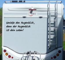 Aufkleber Genieße den Augenblick Wohnmobil...