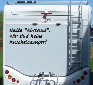 Aufkleber Halte Abstand Keine Kuschelcamper Wohnmobil Wohnwagen Camping Caravan