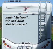 Aufkleber Halte Abstand Keine Kuschelcamper Wohnmobil...