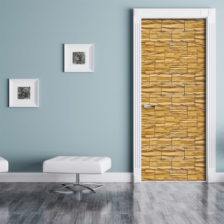 t rtapete steinmauer steinwand mauer t rposter selbstklebend 2050 x 27 49. Black Bedroom Furniture Sets. Home Design Ideas