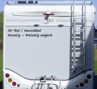 Aufkleber Ihr Text Wunschtext Wohnmobil Wohnwagen Camper Camping Caravan Auto