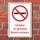 Schild Rauchen Vapes Vapen Dampfen im gesamten Bereich verboten 3 mm Alu-Verbund