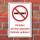 Schild Vapes Vapen Dampfen auf dem gesamten Gelände verboten 3 mm Alu-Verbund