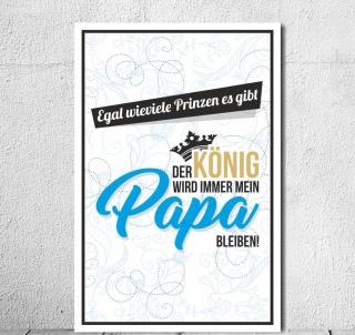 Vintage Shabby Holzschild Dekoschild Konig Bleibt Immer Papa
