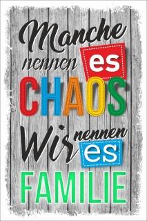 Vintage Shabby Holzschild Manche nennen es Chaos Wir nennen es Familie Geschenk