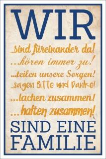 Vintage Shabby Holzschild Dekoschild Spruch Wir sind eine Familie Geschenk