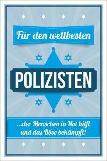 Vintage Shabby Holzschild Weltbeste Polizist Polizei Geburtstag Geschenk