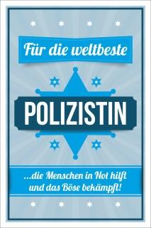 Vintage Shabby Holzschild Weltbeste Polizistin Polizei Geburtstag Geschenk