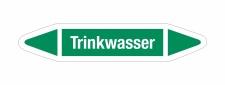 Rohrleitungskennzeichnung Aufkleber Etikett Trinkwasser...
