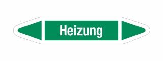 Rohrleitungskennzeichnung Aufkleber Etikett Heizung DIN 2403 Wasser