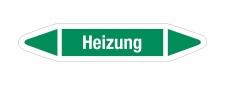 Rohrleitungskennzeichnung Aufkleber Etikett Heizung DIN...