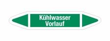 Rohrleitungskennzeichnung Aufkleber Etikett Kühlwasser Vorlauf DIN 2403 Wasser