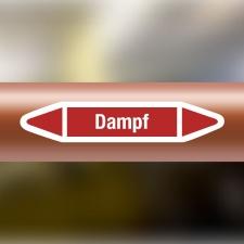 Rohrleitungskennzeichnung Aufkleber Etikett Dampf DIN...