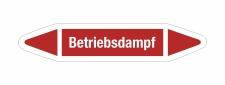 Rohrleitungskennzeichnung Aufkleber Etikett Betriebsdampf...