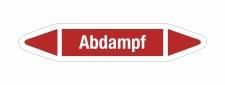 Rohrleitungskennzeichnung Aufkleber Etikett Abdampf DIN...