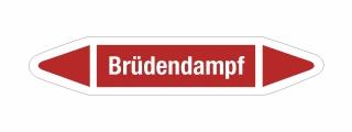 Rohrleitungskennzeichnung Aufkleber Etikett Brüdendampf DIN 2403 Dampf